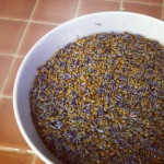 Flaxseed and lavender soaking